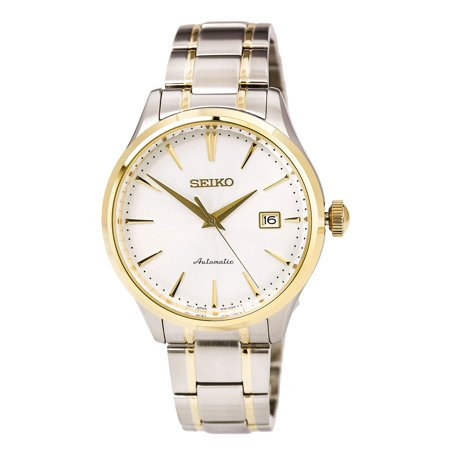 Seiko SRP704 Men's Core Two Tone Steel White Dial Power Reserve Automatic (Automatic Power Reserve Mens Watch)