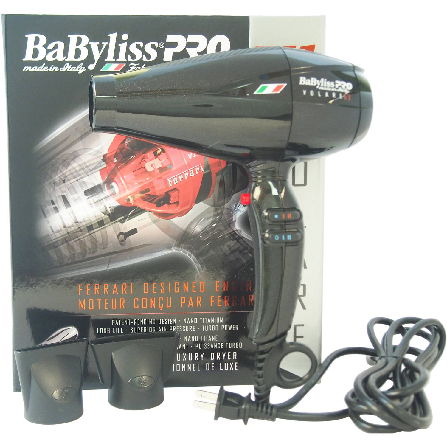 Babyliss PRO V1 Volare Ferrari Designed Engine Hair Dryer