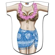 Blue Sarong Bikini Body Tee Shirt - Cover-Up #16 (One Size Fits Most)