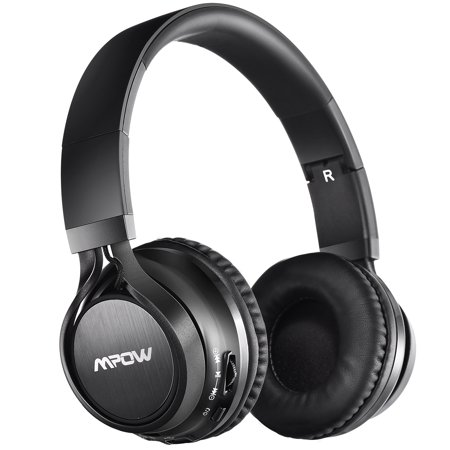 Mpow Thor Bluetooth Headphones, Over-ear, Foldable, Wireless Stereo Headphone with Soft Protein Ear Pads, Mic, Wireless and Wired Mode (Black)