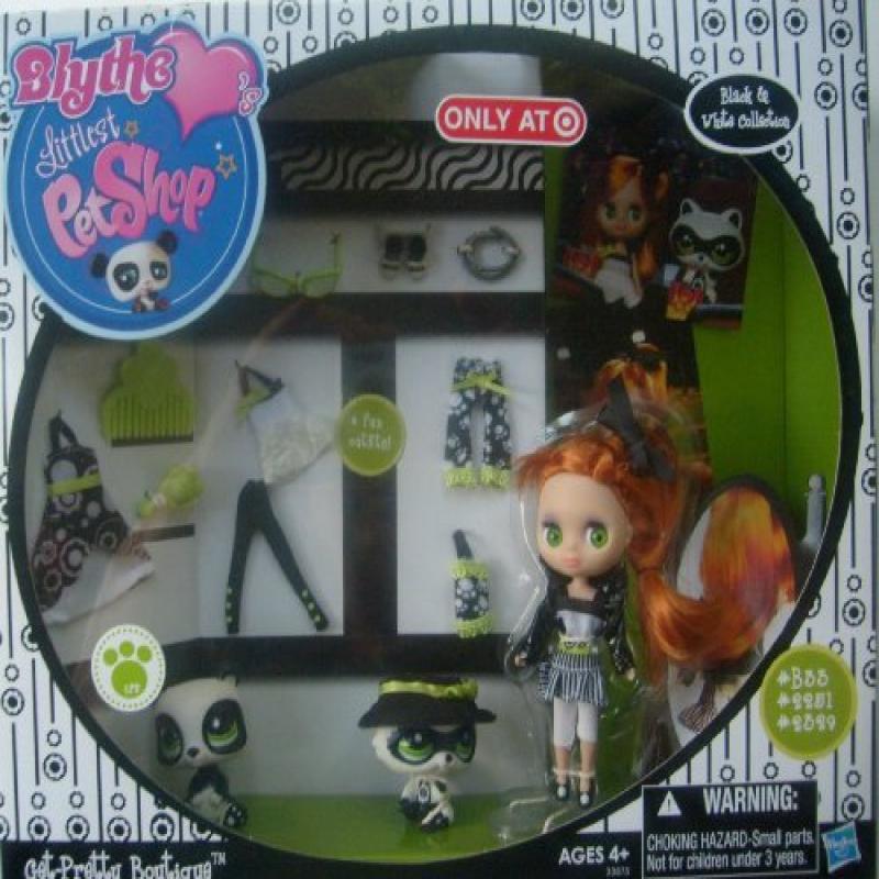 Hasbro Littlest Pet Shop Blythes Black White Collection E...
