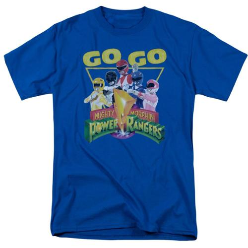 Power Rangers Men's  Go Go T-shirt Blue
