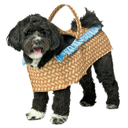 Dorothy Halloween Costume For Dogs (Toto Wizard Of Oz Dorothy Carrying Toto Dog In Basket Dog Costume)
