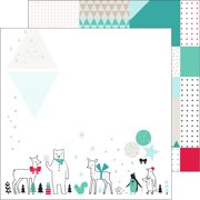 "Christmas Wishes Double-Sided Cardstock 12""X12""-Christmas Parade"