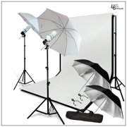 Umbrella Light Modifier Kit with Backdrop Support System and Muslin Backdrops for Photography and Video by Loadstone Studio WMLS0944