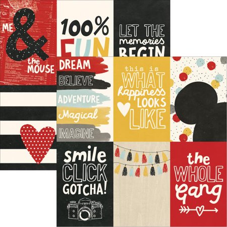 "Say Cheese Iii Double-sided Elements Cardstock 12""x12""-4""x6"" Vertical Journaling Cards - Case Pack Of 25"
