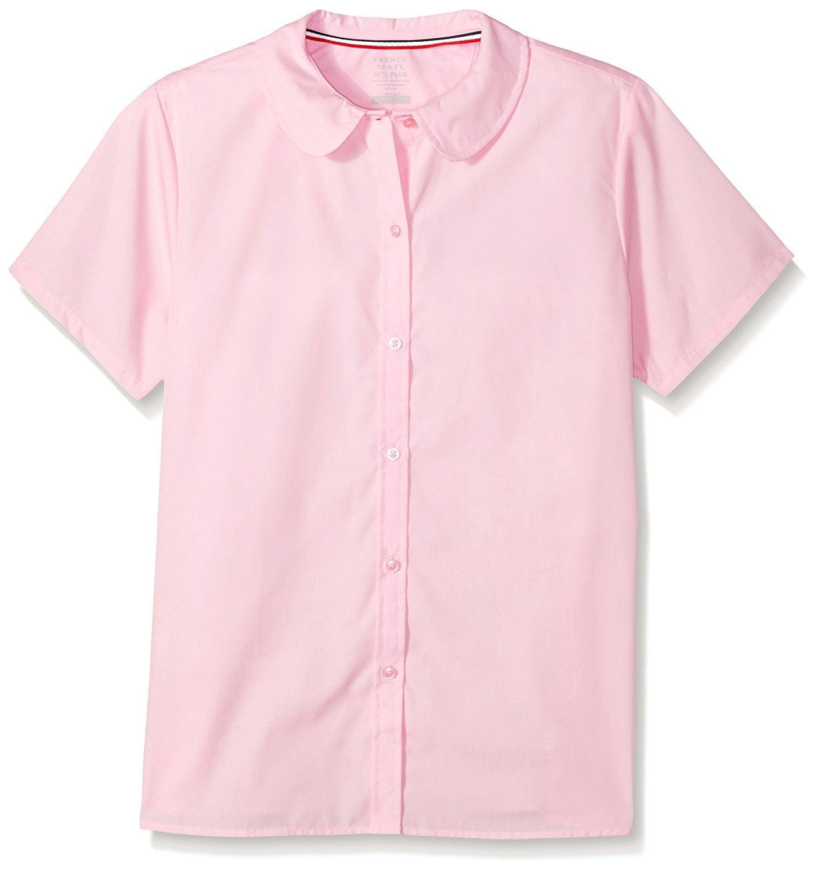 006d402b87730e French Toast - Short Sleeve Modern Peter Pan Collar Blouse (Little Girls    Big Girls) - Walmart.com
