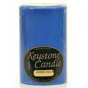 1 Pc Blue Christmas 4x6 Pillar Candles 4 in. diameterx6.25 in. (Christmas Pillar Candle)