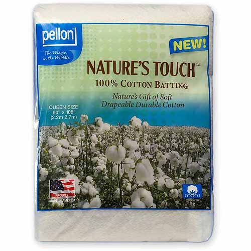 Pellon Natures Touch Natural Blend 80/20 Batting with Scrim, 2 Sizes