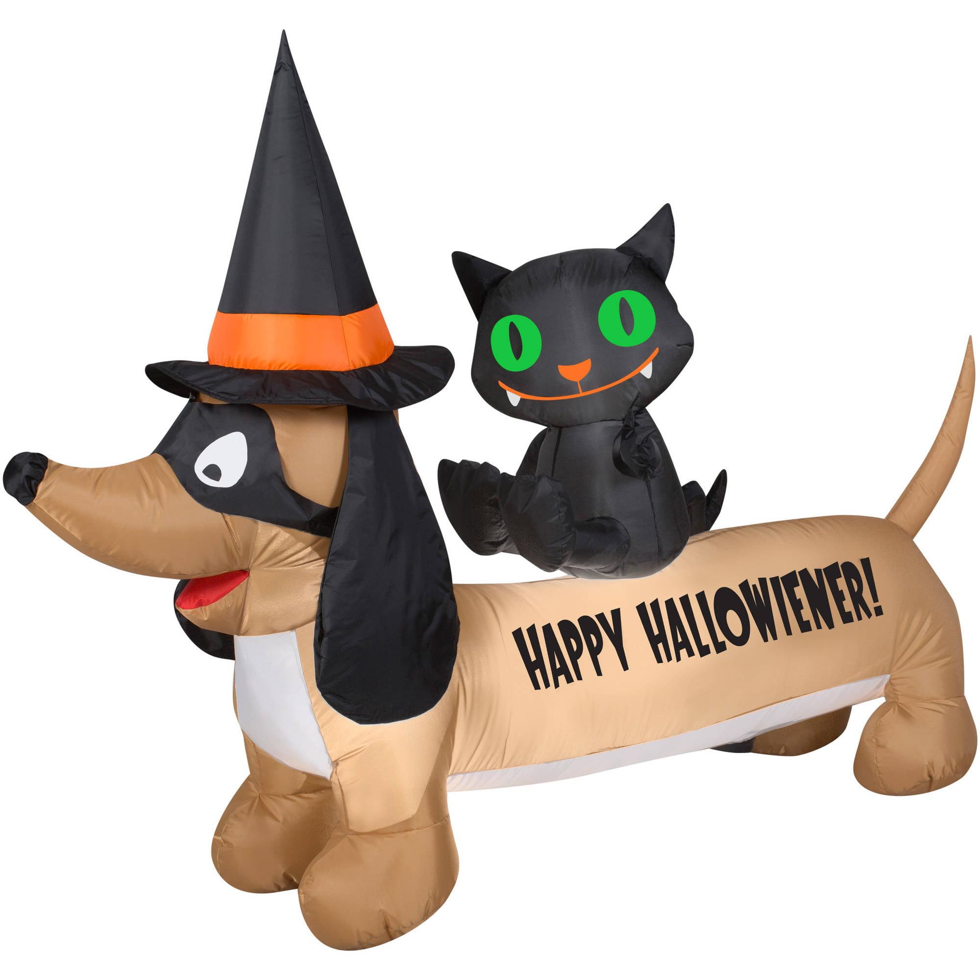 Dachshund Halloween Decorations.Airblown Dachshund Halloween Decoration Walmart Com Walmart Com