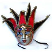 Tramezzino Jester Costume Mask: Red