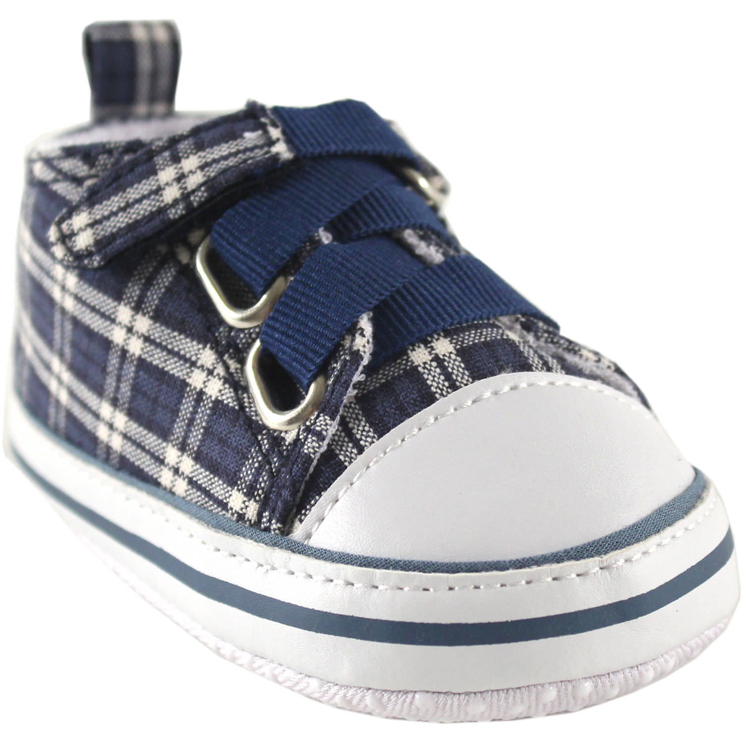 Luvable Friends Newborn Baby Boy Plaid Sneakers