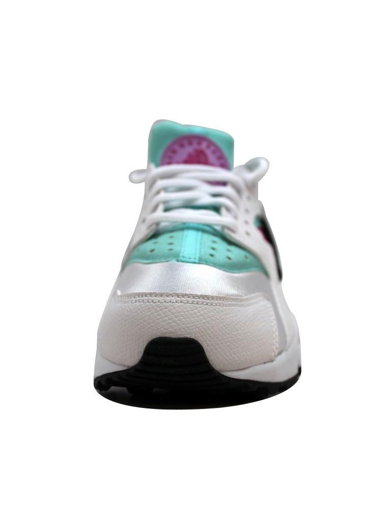 Nike White/Fuchsia Women's Air Huarache Run White/Fuchsia Nike Flash-Artisan Teal 634835-104 0633c5