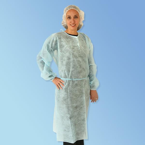 Premier 1 Polypropylene Disposable Isolation Gowns, Elast...