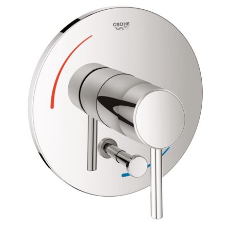 Grohe 29102001 Concetto Pressure Balance Mixing Valve Trim with Diverter, Chrome - Grohe Essence Pressure Balance