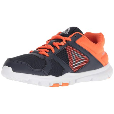 Kids Reebok Girls Yourflex Train 10 Low Top Lace Up Trail Running Shoes 99b0a722b