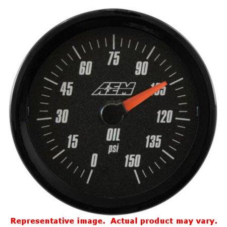 AEM PERFORMANCE ELECTRONICS 30-5135 ANALOG OIL SAE PRESSURE GAUGE. 0~50PSI (Aem Analog Boost)