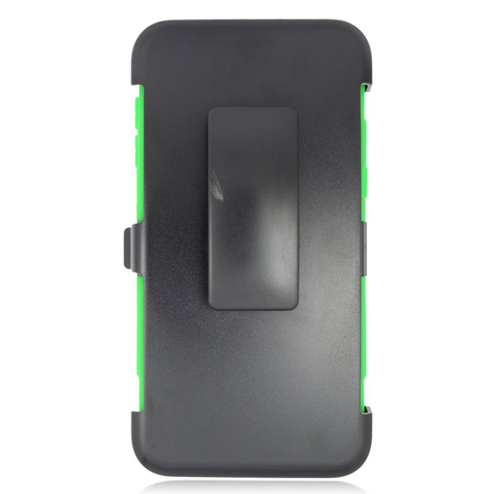 Insten Stand Dual Layer Hybrid Case with Holster For Samsung Galaxy S6 Edge Plus - Black/Green - image 1 of 3