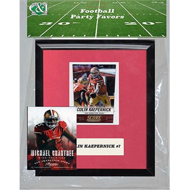 Candlcollectables 67LB49ERS NFL San Francisco 49ers Party Favor With 6 x 7 Mat and Frame