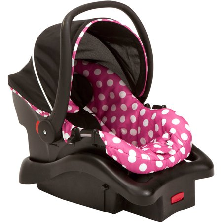 disney baby light 39 n comfy luxe infant car seat minnie dot. Black Bedroom Furniture Sets. Home Design Ideas
