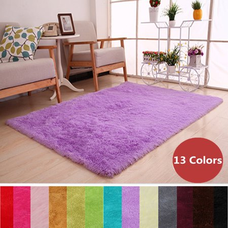 48x32 inch Soft Fluffy Floor Rug Shag Shaggy Area Rug Bedroom Dining Room Carpet Child Play Cushion Mat 13 Colors