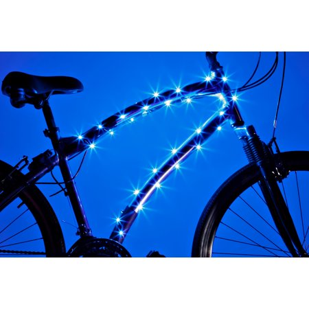 Cosmic Brightz LED Bicycle Accessory Frame Light, Blue