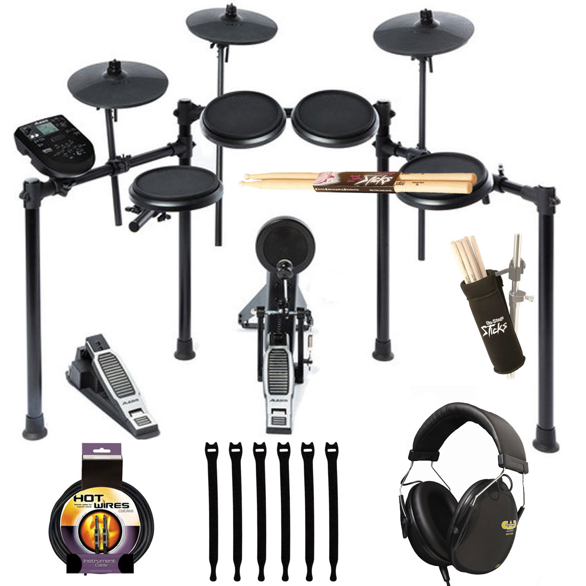 Alesis Nitro Drum Kit, 8-Piece Electronic Kit with Drum Module, Headphone, Cable + Drum... by Alesis
