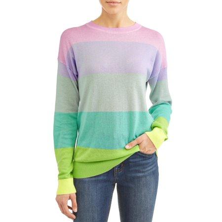 Womens Striped Cashmere Crewneck Sweater (Women's Stevie Striped Crewneck)