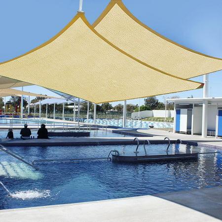 - Yescom 2pcs 20'x16' Rectangle Sun Shade Sail UV Blocking Canopy Cover
