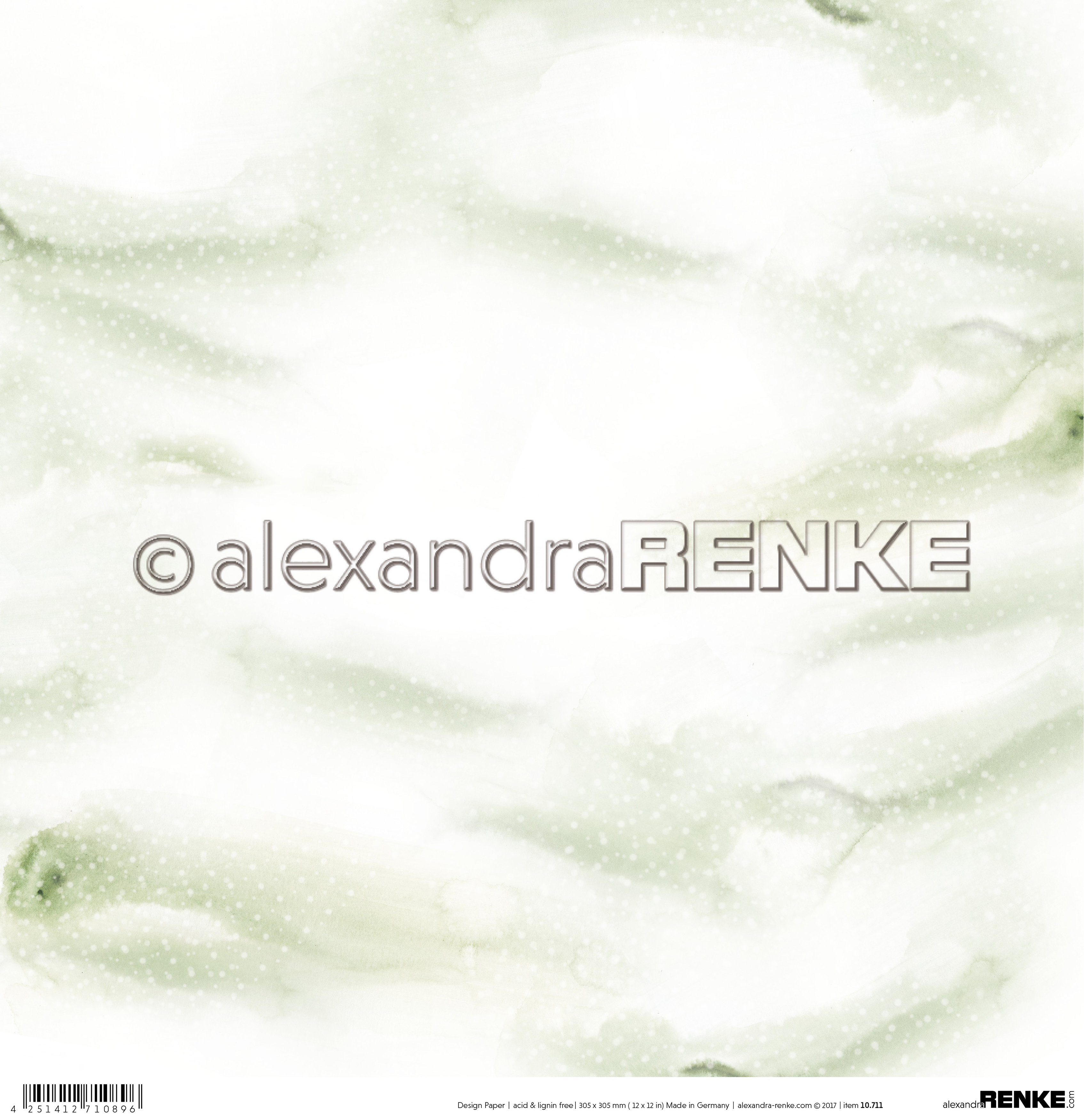 "Alexandra Renke Christmas Design Paper 12""X12""-Mini Snow - Green"
