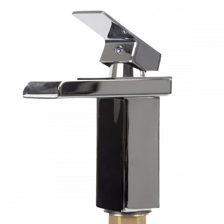 Waterhill One Handle - Bathroom Sink Faucet Chrome Vessel Waterfall One Hole/Handle Mixer Tap SQ15