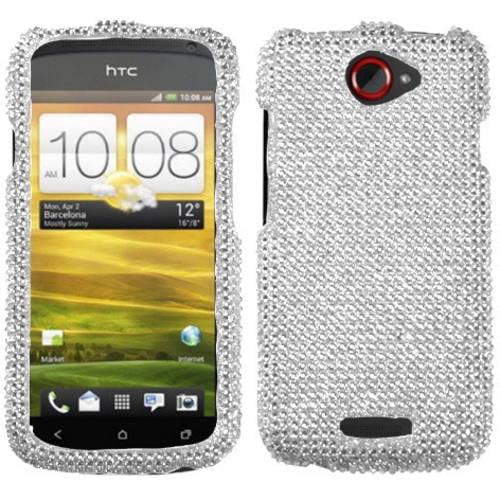 HTC One S MyBat Protector Case, Silver Diamante