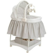 Delta Children's Products Deluxe Gliding Bassinet, Silver Lining