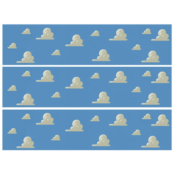 Brilliant Toy Story Cloud Border Strips Edible Icing Image 1 4 Sheet Birthday Cards Printable Trancafe Filternl
