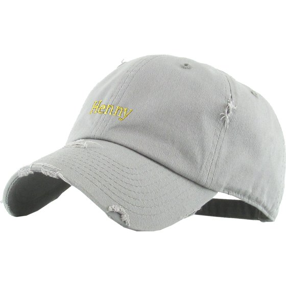 6b671e2ce646c Henny Black Vintage Distressed Dad Hat Adjustable Baseball Cap Flexfit Nike  Adidas City Hunter - Walmart.com