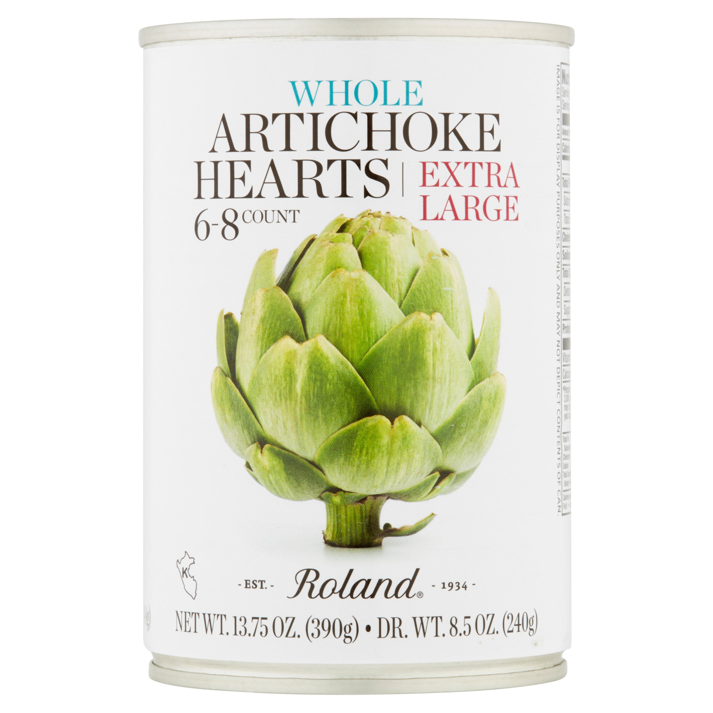 Roland Extra Large Artichoke Hearts, 13.75 oz,(Pack of 6)