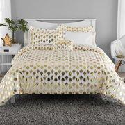 Mainstays Gold Dot Bed in a Bag Comforter Set