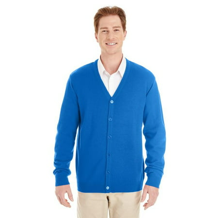 Mens V-neck Silk Sweater - Mens Pilbloc V Neck Button Cardigan Sweater
