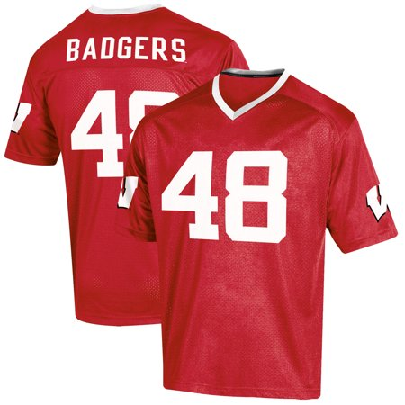 Youth Russell Red Wisconsin Badgers Replica Football Jersey