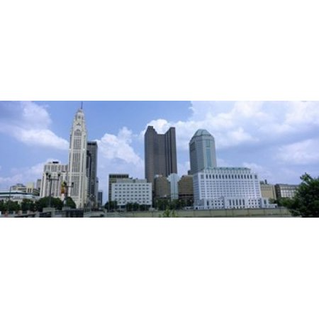 USA Ohio Columbus Clouds over tall building structures Poster Print](Halloween Columbus Ohio)