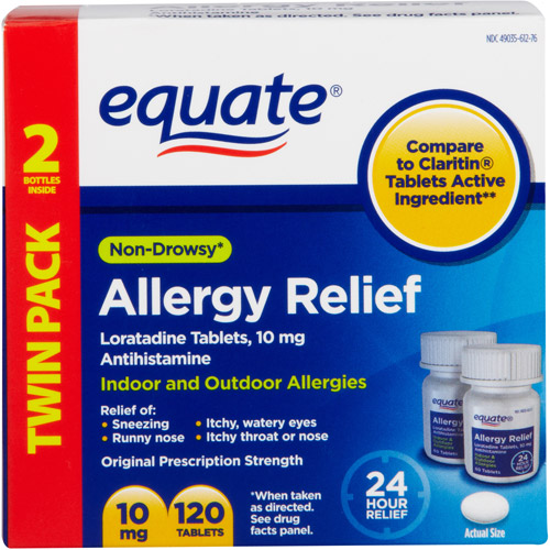 Equate Antihistamine Allergy Relief 120 ct