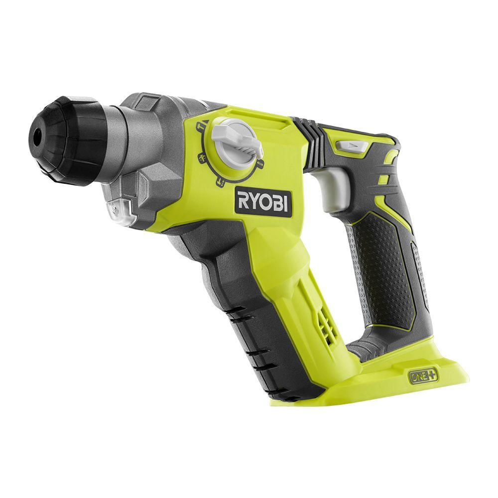 Ryobi ONE+ 18-Volt 1/2 in. Cordless SDS-Plus Rotary Hamme...