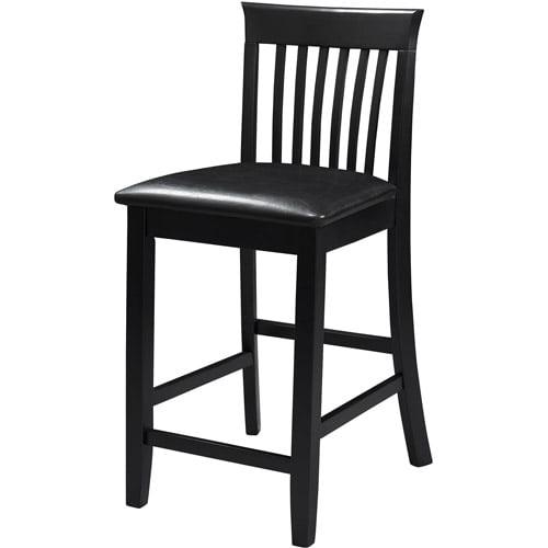 Walmart Counter Stools: Linon Torino Craftsman Counter Stool, Black, 24 Inch Seat