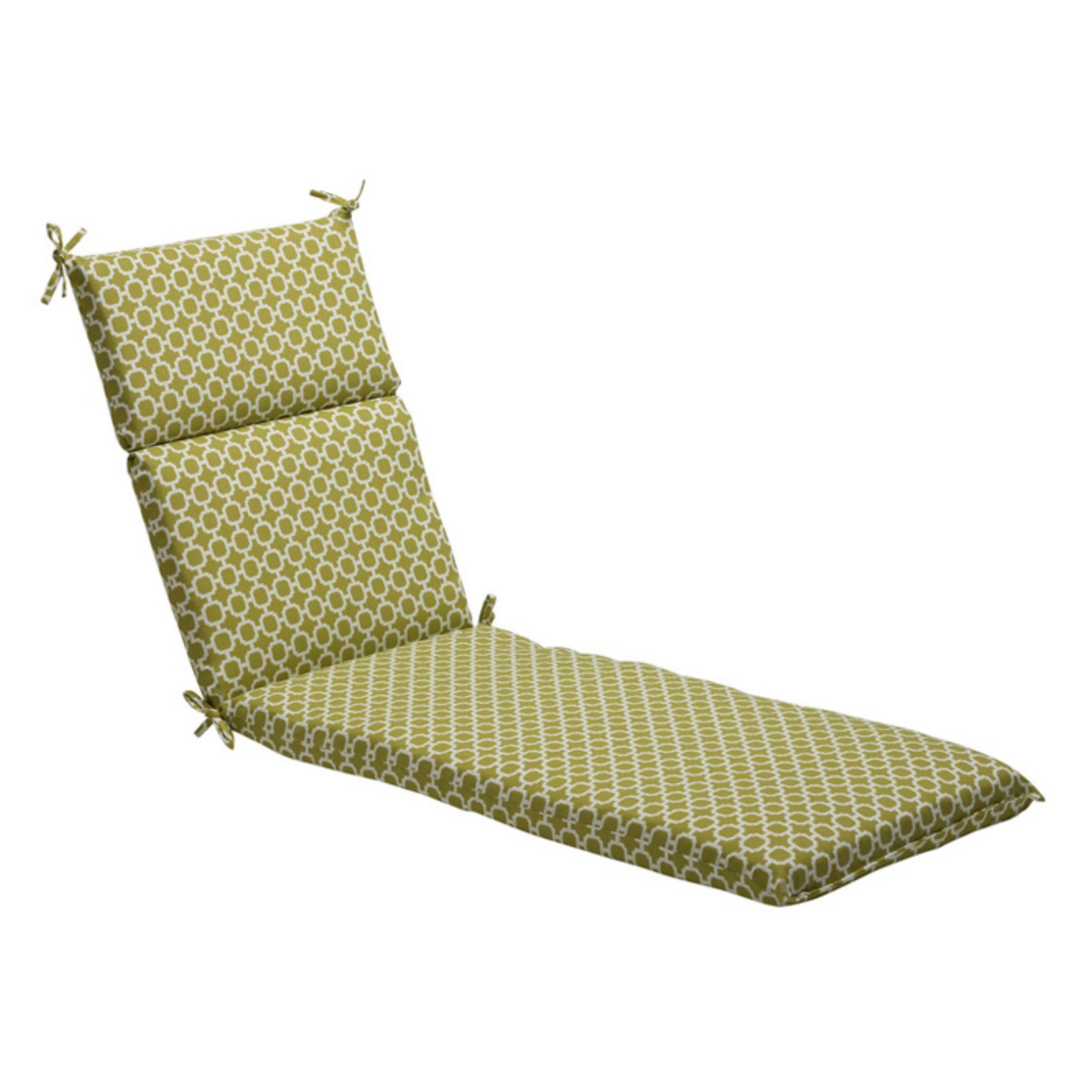 Pillow Perfect Geometric Outdoor Chaise Lounge Cushion - 72.5 x 21 x 3 in.
