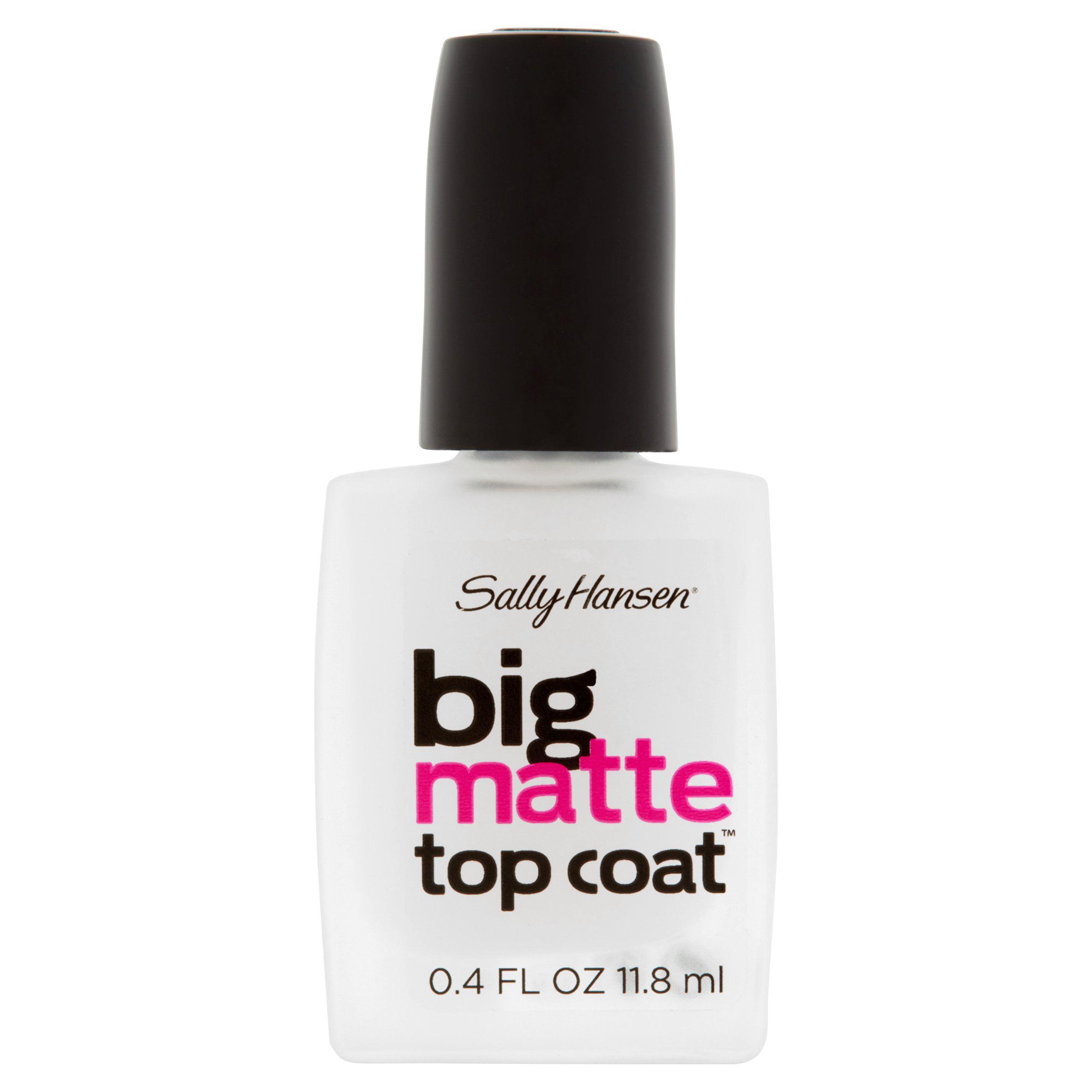 Sally Hansen 41055 Big Matte Top Coat, 0.4 fl oz