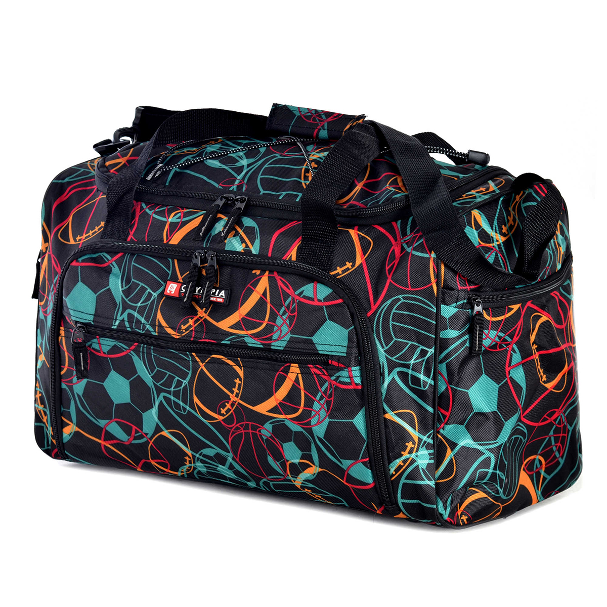 Olympia 25 Chic Duffel Bag Travel Tote With Adjustable Shoulder Strap Luggage by Olympia USA