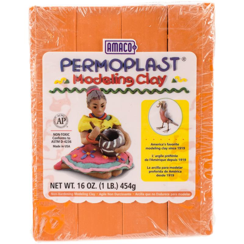 Permoplast Clay, 1lb, Orange