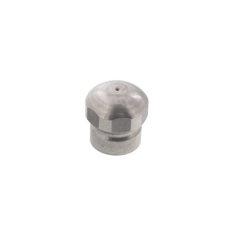 "Erie Tools Button Nose 1/8"" Drain Cleaning Nozzle 3.0 Orifice 4000 PSI Stainless Steel for Sewer Pipe Water Jetter"