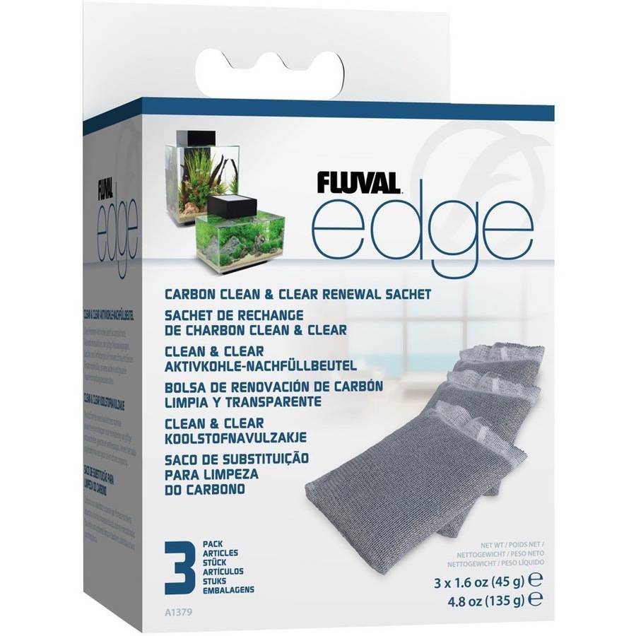 Fluval Edge Carbon Renewal Sachets, 3pk