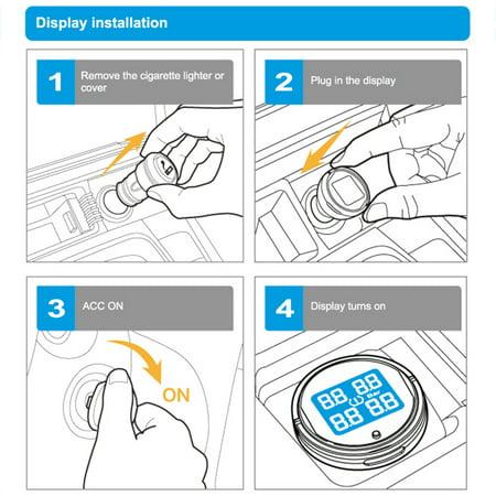 Steelmate EBAT ET-710AE 4-sensor Wireless TPMS LCD Tire Pressure Monitor System - image 7 de 7